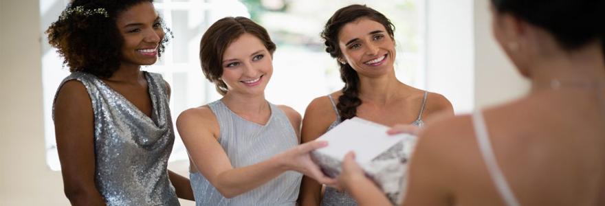 cadeau offrir à l'occasion d'un mariage